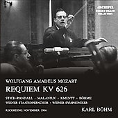 Mozart: Requiem;  Beethoven: Choral Fantasy / B&ouml;hm, Malaniuk, Kmentt, et al