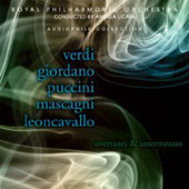 Verdi, Giordano, Puccini, Mascagni, Leoncavallo: Overtures, Intermezzos