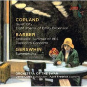 April Fredrick Sings Copland, Barber, Gershwin / David Curtis, Orchestra of the Swan