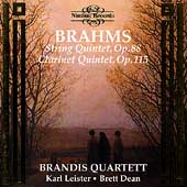 Brahms: String Quintet, Clarinet Quintet / Brandis Quartett