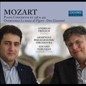 Mozart: Piano Concertos K 238 & 415; Overtures The Marriage of Figaro & Don Giovanni / Andreas Frolich, piano. Eduard Topchjan