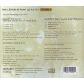 Léner String Quartet - Complete Recordings Vol 4