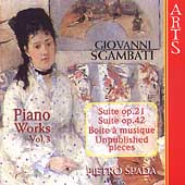 Sgambati: Complete Piano Works Vol 3 / Pietro Spada