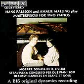 Masterpieces for Two Pianos / Hans Pålsson, Amalie Malling