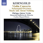 Korngold: Violin Concerto, Much Ado About Nothing, etc / Philippe Quint, Carlos Miguel Prieto, et al