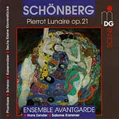 Sch&ouml;nberg: Pierrot Lunaire, etc / Ensemble Avantgarde
