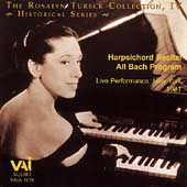 Rosalyn Tureck Collection Vol 4 - A Bach Harpsichord Recital