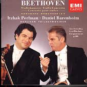 Beethoven: Violin Concerto, Romances / Perlman, Barenboim