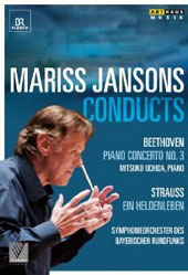 Mariss Jansons Conducts Beethoven and Strauss / Mitsuko Uchida, piano. Bavarian Radio SO. Jansons  [DVD]