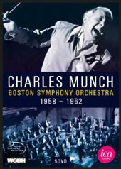 Charles Munch & the Boston Symphony Orchestra - works by Beethoven, Haydn, Bruckner, Mendelssohn, Schumann, Schubert, Handel & Mozart (filmed 1958-1962) [5 DVD]