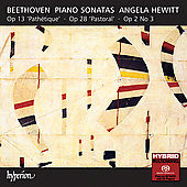 Beethoven: Piano Sonatas no 3, 8 & 15 / Angela Hewitt