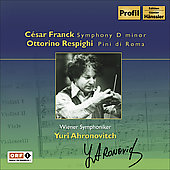 Franck: Symphony in D minor;  Respighi / Ahronovitch