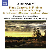 Arensky: Piano Concerto Op 2, Fantasia Op 48, etc / Yablonsky, Scherbakov, et al