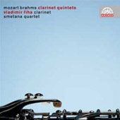 Mozart, Brahms: Quintets for Clarinet, 2 Violins, Viola & Cello / Smetana String Quartet, Vladimir Riha
