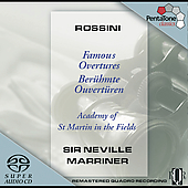 Rossini: Famous Overtures / Marriner, Academy of St. Martin