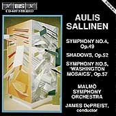 Sallinen: Symphonies no 4 & 5, etc / DePreist, Malmö SO
