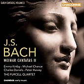 Bach: Early Cantatas Vol 2 - Weimar 2 / Kirkby, Chance, Daniels, Harvey, Purcell Quartet, et al