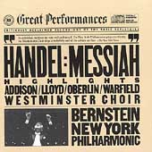 Handel: Messiah - Highlights / Bernstein, New York PO