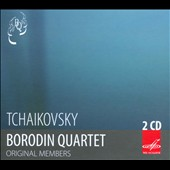 Tchaikovsky: String Quartets Nos. 1-3; Souvenir de Florence / Borodin Quartet, Genrikh Talalyan: second viola; Mstislav Rostropovich, second cello