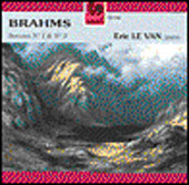 Brahms: Piano Sonatas no 1 and 3 / Eric Le Van