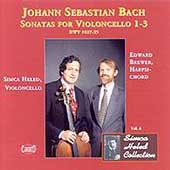 Bach: Sonatas for Violoncello no 1-3 / Heled, Brewer