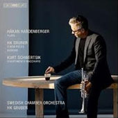 H.K. Gruber: 3 MOB Pieces; Busking; Kurt Schwertsik: Divertimento Macchiato / Hakan Hardenberger, trumpet; Swedish CO