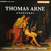 Arne: Overtures / Standage, Collegium Musicum 90