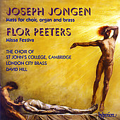 Jongen: Mass for Choir, Organ and Brass;  Peeters / Hill