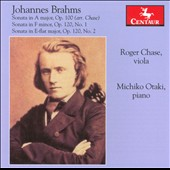 Brahms: The two Viola (Clarinet) Sonatas / Roger Chase, viola