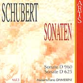 Schubert: Sonaten Vol 3 / Massimiliano Damerini