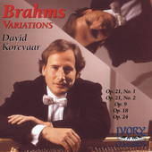 Brahms: Variations / David Korevaar