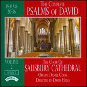 The Complete Psalms of David, Series 2, Vol. 2 / Choir of Salisbury Cathedral; Daniel Cook, organ