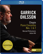 Chopin: Piano Concertos 1 & 2 / Garrick Ohlsson, Wit/Warsaw PO [Blu-Ray]