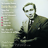 The Legendary Violinist David Nadien Vol 4 - Ravel, etc