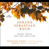 J.S. Bach: 3 Sonatas Viola Gamba & Harpsichord Transcriptions