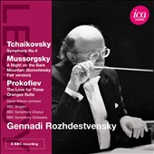Tchaikovsky: Symphony No. 4; Mussorgsky: A Night on Bare Mountain / Rozhdestvensky