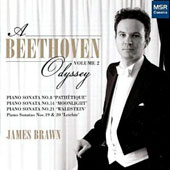 A Beethoven Odyssey, Vol. 2: Piano Sonatas nos 8, 14, 19, 20, 21 / James Brawn, piano