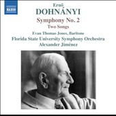 Dohnányi: Symphony No. 2; Two Songs / Evan Thomas Jones, baritione