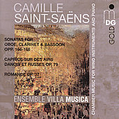 Saint-Saëns: Sonatas for Oboe, Clarinet & Bassoon, Op 166-168, Romance, Op 37, etc / Ensemble Villa Musica