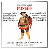 Verdi: Falstaff / Rossi, Taddei, Renzi, Pagliughi, et al