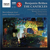 Benjamin Britten: The Canticles / Christopher Ainslie, Benedict Nelson, Martin Owen, horn, Lucy Wakeford, harp