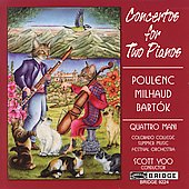 Poulenc, Milhaud, Bartók: Concertos for Two Pianos