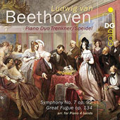 Beethoven: Music for Piano 4 hands - Symphony No. 7; Great Fugue, Op. 134 / Piano Duo Trenkner / Speidel