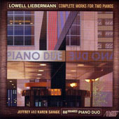 Lowell Liebermann (b.1961): Complete Works for Two Pianos / 88squared Piano Duo