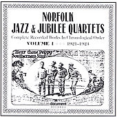 Norfolk Jazz & Jubilee Quartet: Complete Recorded Works, Vol. 1 (1923-1926)