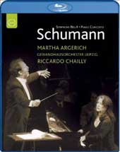 Schumann: Piano Concerto, Symphony No. 4 / Argerich, Chailly [Blu-Ray]