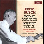 Mozart: Serenade in D major; Schumbert: Symphony No. 5 / Fritz Busch