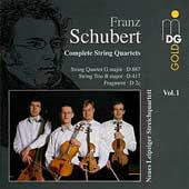 Schubert: Complete String Quartets Vol 1 / Leipzig Quartet