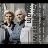 Beethoven: Complete Works for cello and piano - Sontas Opp. 5/1&2; 69; 102/1&2 / France Springuel: cello; Jan Vermeulen: fortepiano