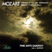 Mozart: String Quartet No. 19 'Dissonant' & String Quintet in C Minor / J. Dupouy